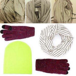 American Apparel circle scarf black white stripe